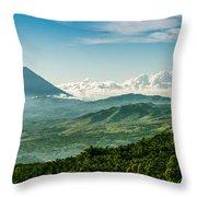 Flores Volcano Throw Pillow