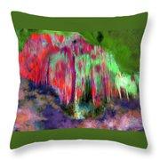 Florescent Cave Throw Pillow