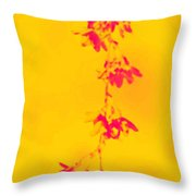 Florets In Ochre Throw Pillow