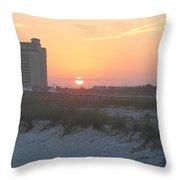 Florida Beach Sunset Throw Pillow