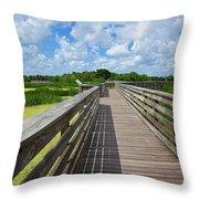 Florida Boardwalk Throw Pillow