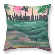 Florida City-skyline2 Throw Pillow