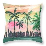 Florida City-skyline3 Throw Pillow