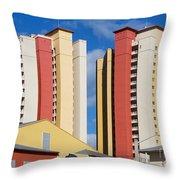 Florida Condos Throw Pillow