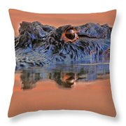 Alligator For Florida  Throw Pillow