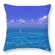 Florida Keys Marathon Intercoastal Waterway 3 Throw Pillow