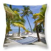 Florida Keys Wellness Throw Pillow
