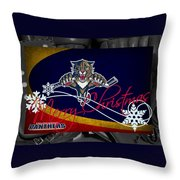 Florida Panthers Christmas Throw Pillow