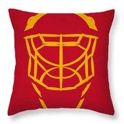 Florida Panthers Goalie Mask Throw Pillow