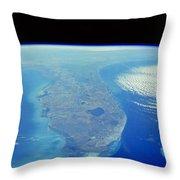 Florida Peninsula, Discovery Shuttle Throw Pillow