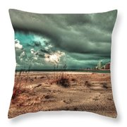 Florida Point Begining Of The Storm Throw Pillow