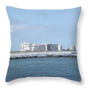Florida Skyline Throw Pillow