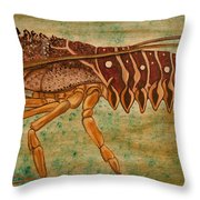 Florida Spiny Lobster Throw Pillow