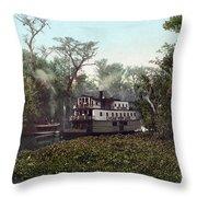 Florida Steamboat, C1902 Throw Pillow