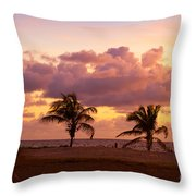Florida Sunrise Throw Pillow