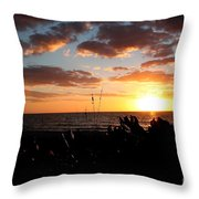 Florida Sunset Throw Pillow