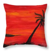 Florida Sunset II Throw Pillow