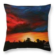 Florida Sunset Throw Pillow by Lisa Bentley