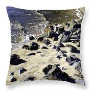 Florida Town Beach Throw Pillow