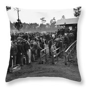 Florida Unemployed, 1940 Throw Pillow