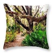 Florida Woods Throw Pillow