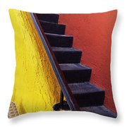 Florida Yellow And Orange Wall Stairs Throw Pillow