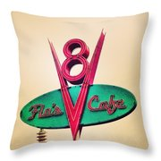Flo's Cafe Throw Pillow