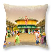 Flo's V8 Diner Throw Pillow