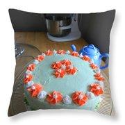 Flour And Flower Throw Pillow