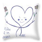 Flourish Within Your Heart Throw Pillow