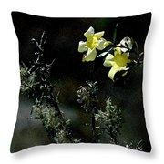 Flower Among The Moss Throw Pillow
