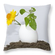 Flower And Egg Throw Pillow