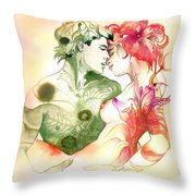 Flower And Leaf Throw Pillow