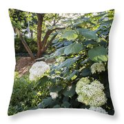 Flower And Tree At Msu Throw Pillow