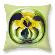 Flower Arms Throw Pillow