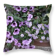 Flower Barrel Throw Pillow