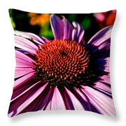 Flower Bed Close Up Throw Pillow