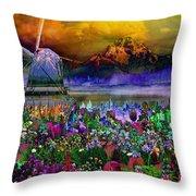 Flower Bliss Throw Pillow