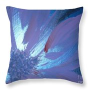 Flower Blue II Throw Pillow