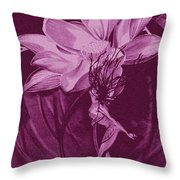 Flower Bomb One Reticulation Throw Pillow