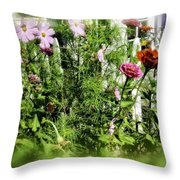 Flower Bouquet Throw Pillow