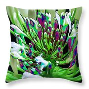 Flower Bunch Bush Sensual Exotic Valentine's Day Gifts Throw Pillow