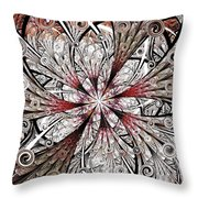 Flower Carving Throw Pillow