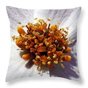 Flower Center Throw Pillow