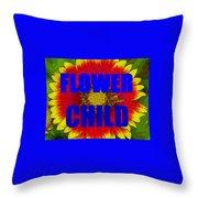 Flower Child Phone Case Work Throw Pillow