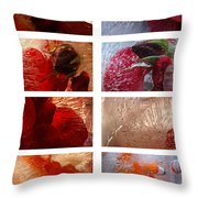 Flower Collage Vertical Throw Pillow