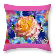 Flower Dance 2 Throw Pillow