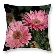 Flower Duvet Cover Throw Pillow