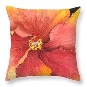 Flower Face Throw Pillow