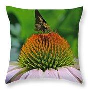 Flower Feeding Throw Pillow